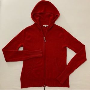 Vince 100% Cashmere Full Zip Hoodie Sweater
